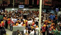 This Market Is Up. Traders do business on the floor of the Brazil Mercantile and Futures Exchange.