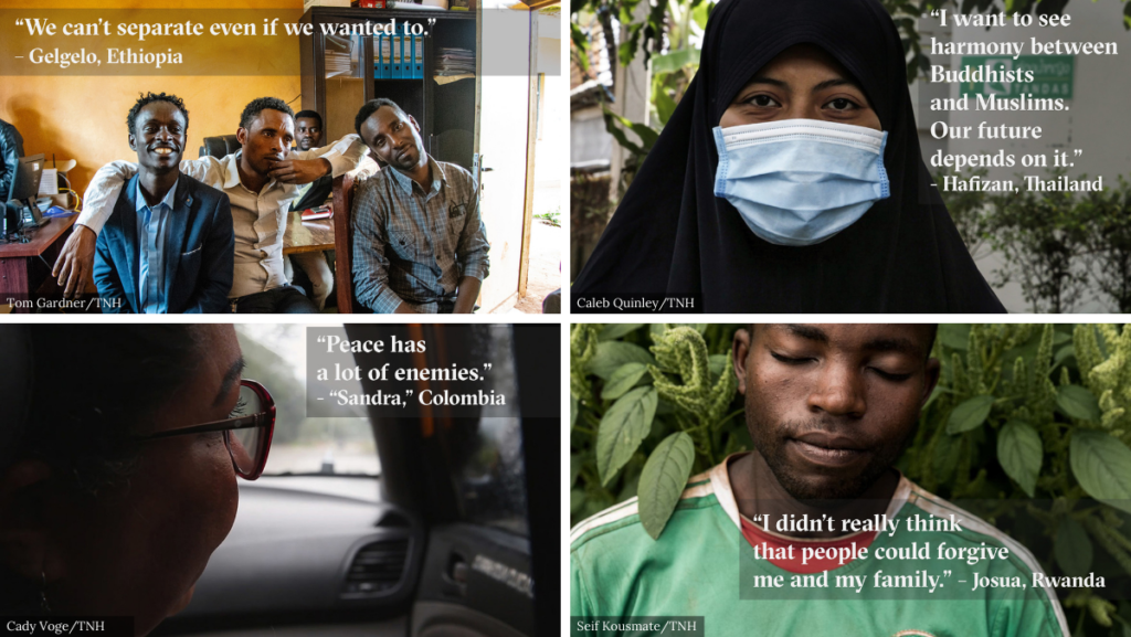 Some of the people and stories from TNH's reporting on the front lines of peace